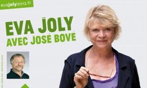 Affiche Eva JOly à Caen